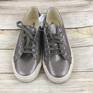 Superga Microsequin Fashion Sneaker Bronze Size 8